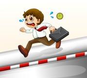 A man running hurriedly Royalty Free Stock Photo
