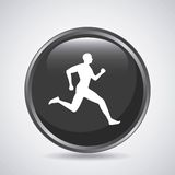 Man running icon. Sport design. Vector graphic Royalty Free Stock Images