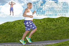 Man Running Jogging Goal Motivation Fitness Dream Royalty Free Stock Photos