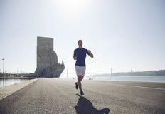 Man running at Lisbon Royalty Free Stock Image