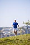 Man running at Lisbon Stock Photo