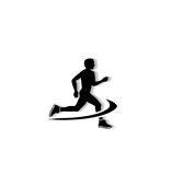 Man running logo. For business stock illustration