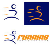 Man running logo Royalty Free Stock Photo