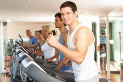 Man On Running Machine Royalty Free Stock Images