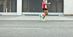 Man running marathon Royalty Free Stock Image