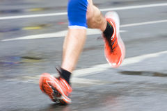 Man running in marathon Royalty Free Stock Photography