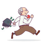 Man running with money Royalty Free Stock Image