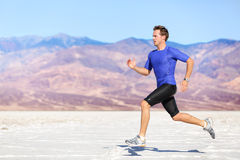 Man running outdoor sprinting for success Stock Photography