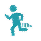 Man running pictogram. Icon vector illustration graphic design Stock Photography