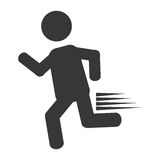Man running pictogram. Icon vector illustration graphic design Royalty Free Stock Image