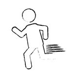 Man running pictogram Stock Photos