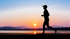 Man running at seaside Royalty Free Stock Image