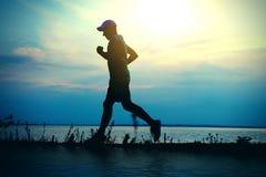 Man running at Sunset Royalty Free Stock Image