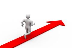 Free Man Running The Road Of Success Royalty Free Stock Photo - 20635745