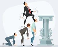 Man running to success. Vector illustration of a man running to success Stock Photo