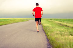 Man running and training healthy lifestyle Royalty Free Stock Photography