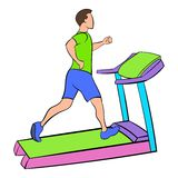 Man running on a treadmil icon cartoon Stock Image