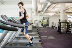 Man running on treadmill Royalty Free Stock Images