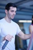 Man running on the treadmill Royalty Free Stock Photos