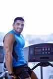 Man running on the treadmill Royalty Free Stock Photo