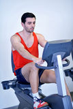 Man running on the treadmill Royalty Free Stock Image