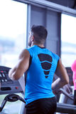 Man running on the treadmill Stock Images