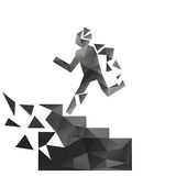 Man running up the stairs Stock Images