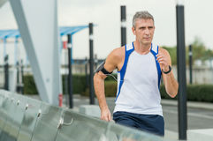 Man Running In A Urban Place Stock Image