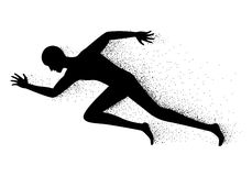 Man running, vector Stock Photos
