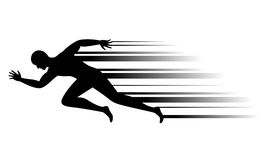Man running, vector Royalty Free Stock Image