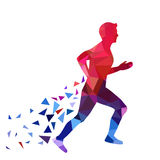 Man Running Vector Illustration. Running man from triangles Royalty Free Stock Photography