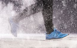 Man running in winter Stock Photography