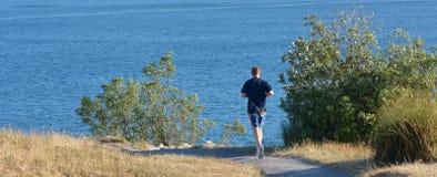 Man runs outdoor Royalty Free Stock Photos