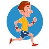 Man runs. Running man. Vector illustration. Sports Vector Illustration