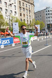 man runs  in 26th Belgrade marathon Royalty Free Stock Images