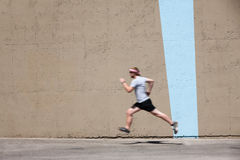 Man runs to prepare for race Royalty Free Stock Photos