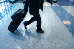 Man rushing to catch his flight Royalty Free Stock Image