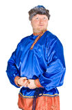 Man in Russian clothes royalty free stock photography