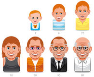 Man´s ages icons Stock Image