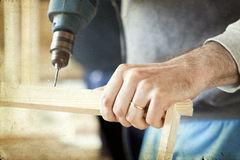 Free Man S Arms Drill Lath In The Workshop Stock Photography - 42508842