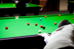 Man playing snooker Stock Image