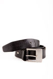 Man's belt. On a white background, metal a buckle Stock Image