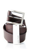 Man S Belt With A Label Royalty Free Stock Photos