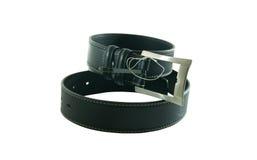 Man's black belt Stock Image