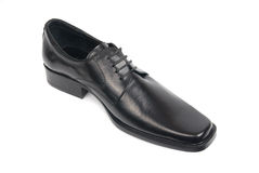 Man's black shoe Royalty Free Stock Images