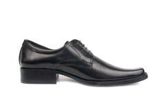 Man's black shoe Stock Photos