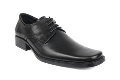 Man's black shoe Royalty Free Stock Photo
