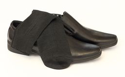 Free Man S Black Shoes And Socks Stock Photos - 26495773