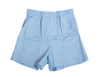 Man's blue underwear isolated Royalty Free Stock Photography