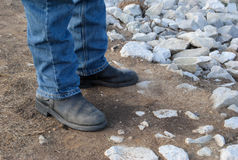 Man's boots Royalty Free Stock Photo